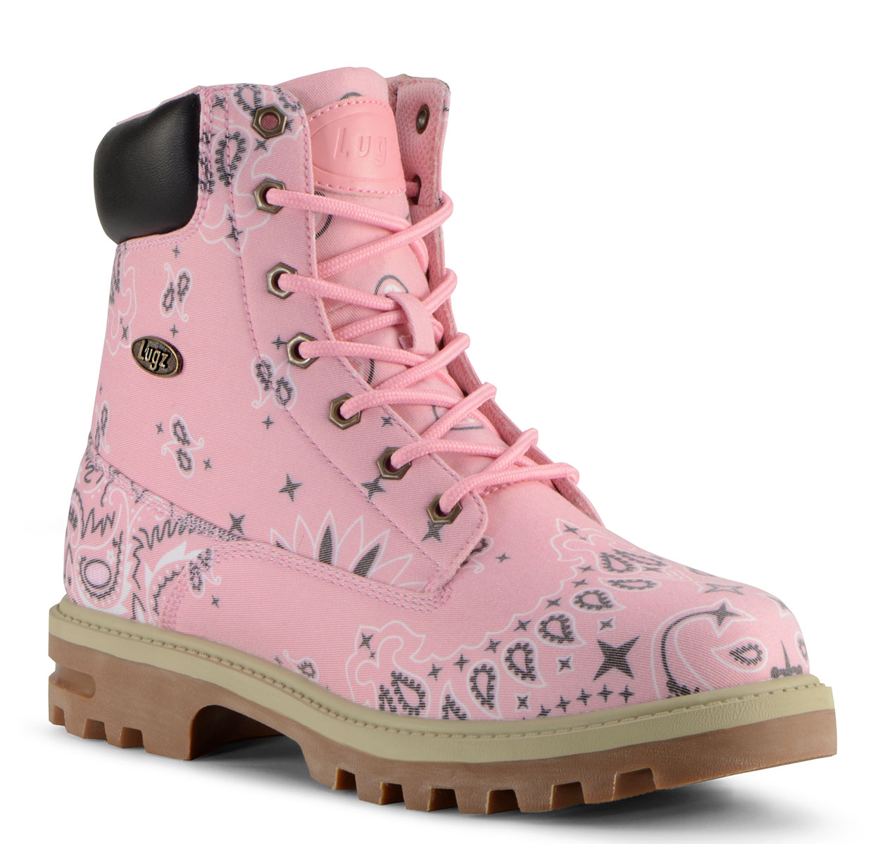 Men's Empire HI Luke Mooky 6-Inch Boot (Choose Your Color: PINK/BLACK/CREAM, Choose Your Size: 12.0)