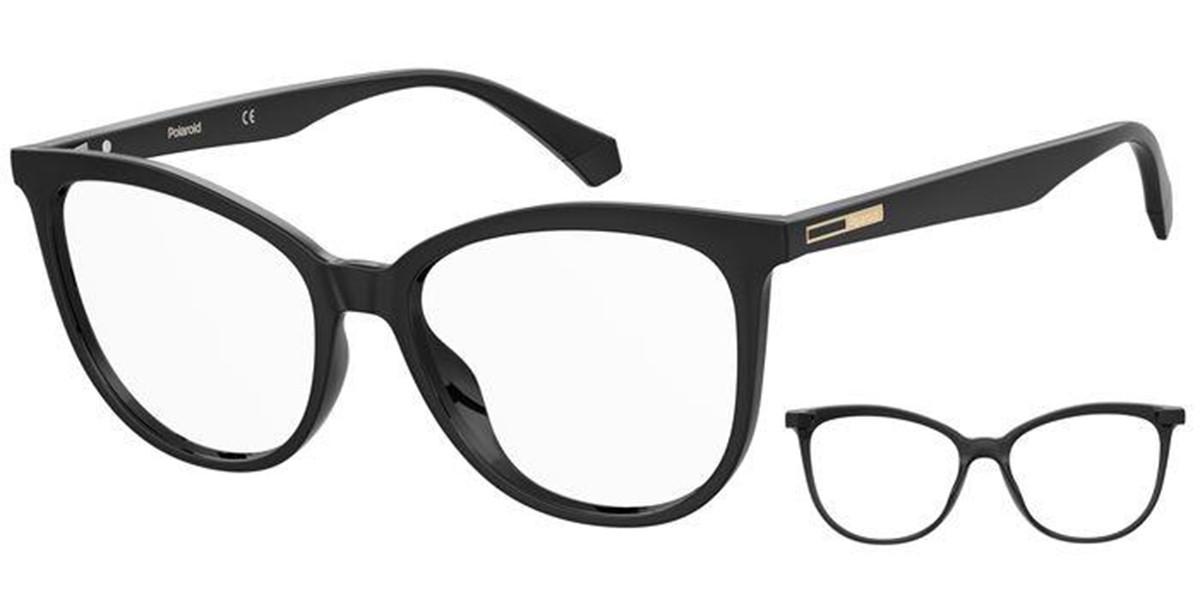 Polaroid PLD D406 with Clip On 807 Women's Glasses  Size 54 - Free Lenses - HSA/FSA Insurance - Blue Light Block Available