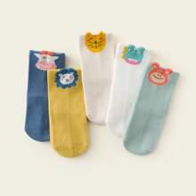 5 Paare Kleinkind Jungen Socken mit Karikaur Grafik