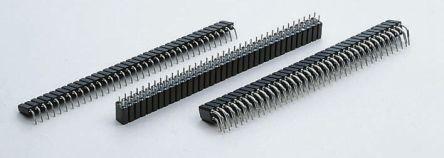 E-TEC 2.54mm Pitch 72 Way 2 Row Straight PCB Socket, Through Hole, Solder Termination (5)