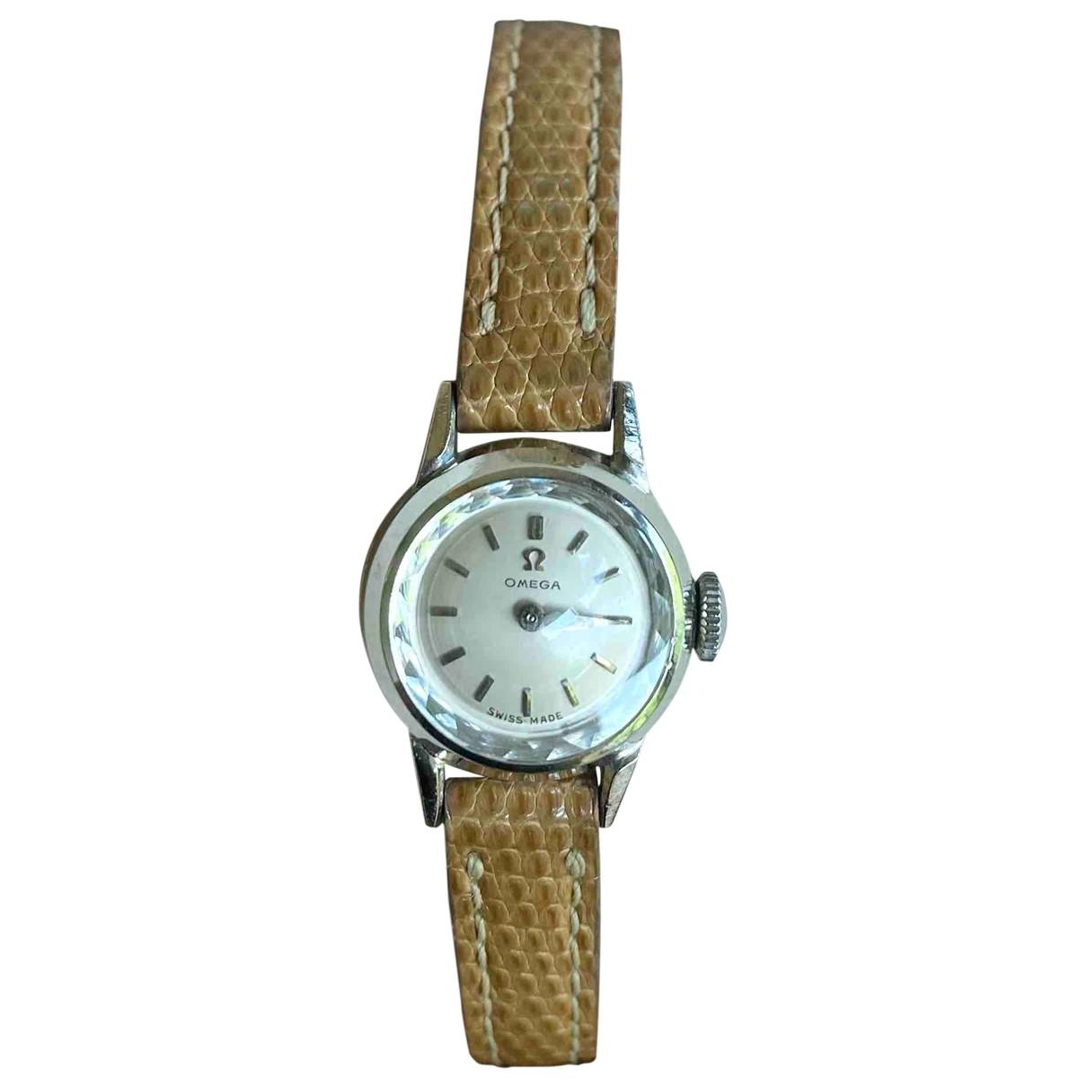 Omega \N Uhr in  Kamel Stahl
