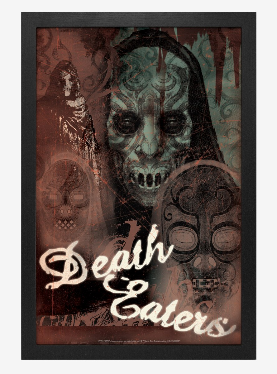 Harry Potter Death Eaters Collage Poster