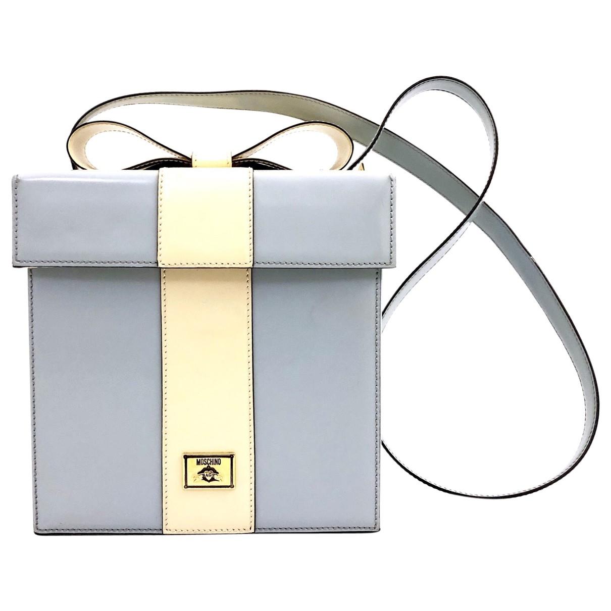 Moschino \N Handtasche in  Beige Lackleder