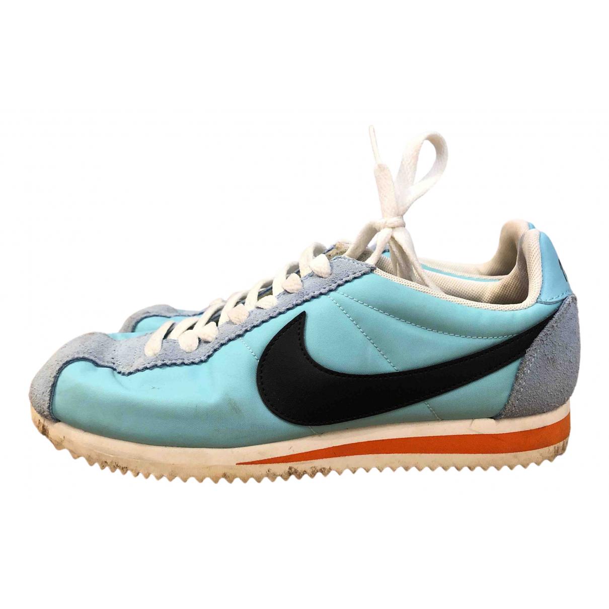 Nike - Baskets Cortez pour femme en toile - bleu