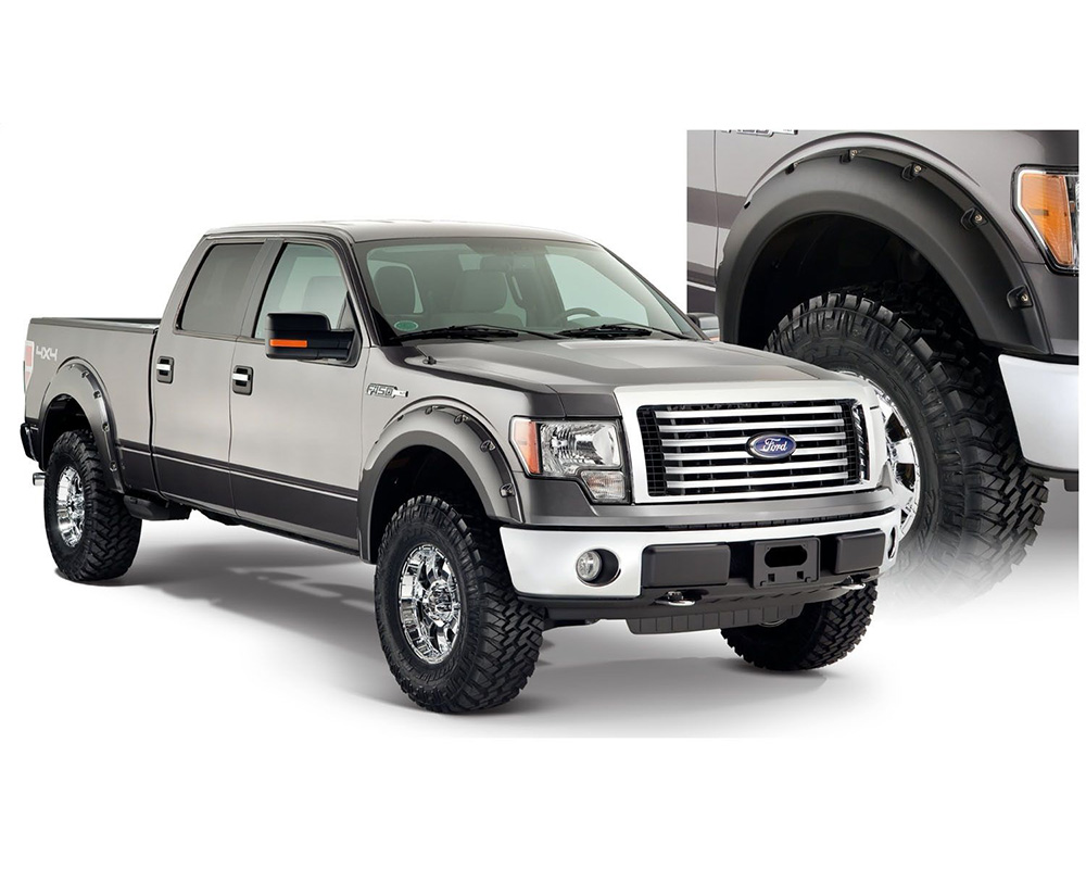 BUSHWACKER - FENDER FLARES POCKET STYLE 4PC Ford F-150 Front and Rear 2009-2014