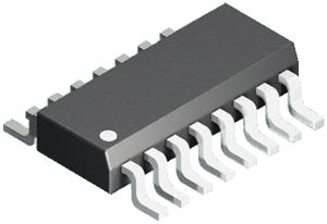 Isocom , IS2801-4 DC Input NPN Phototransistor Output Quad Optocoupler, Surface Mount, 16-Pin SMD (2000)