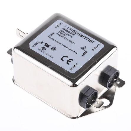 Schaffner , FN2060 6A 250 V ac 400Hz, Flange Mount RFI Filter, Tab, Single Phase