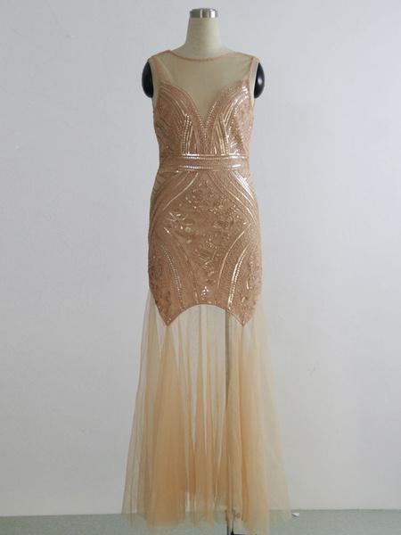 Milanoo 1920s Fashion Outfits Great Gatsby Costume Flapper Dress Black Halloween Vintage Women Sequin Dress