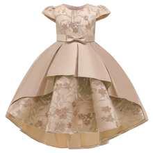 Kleid mit Stickereien, Pflanzen Muster und Kontrast Pailletten