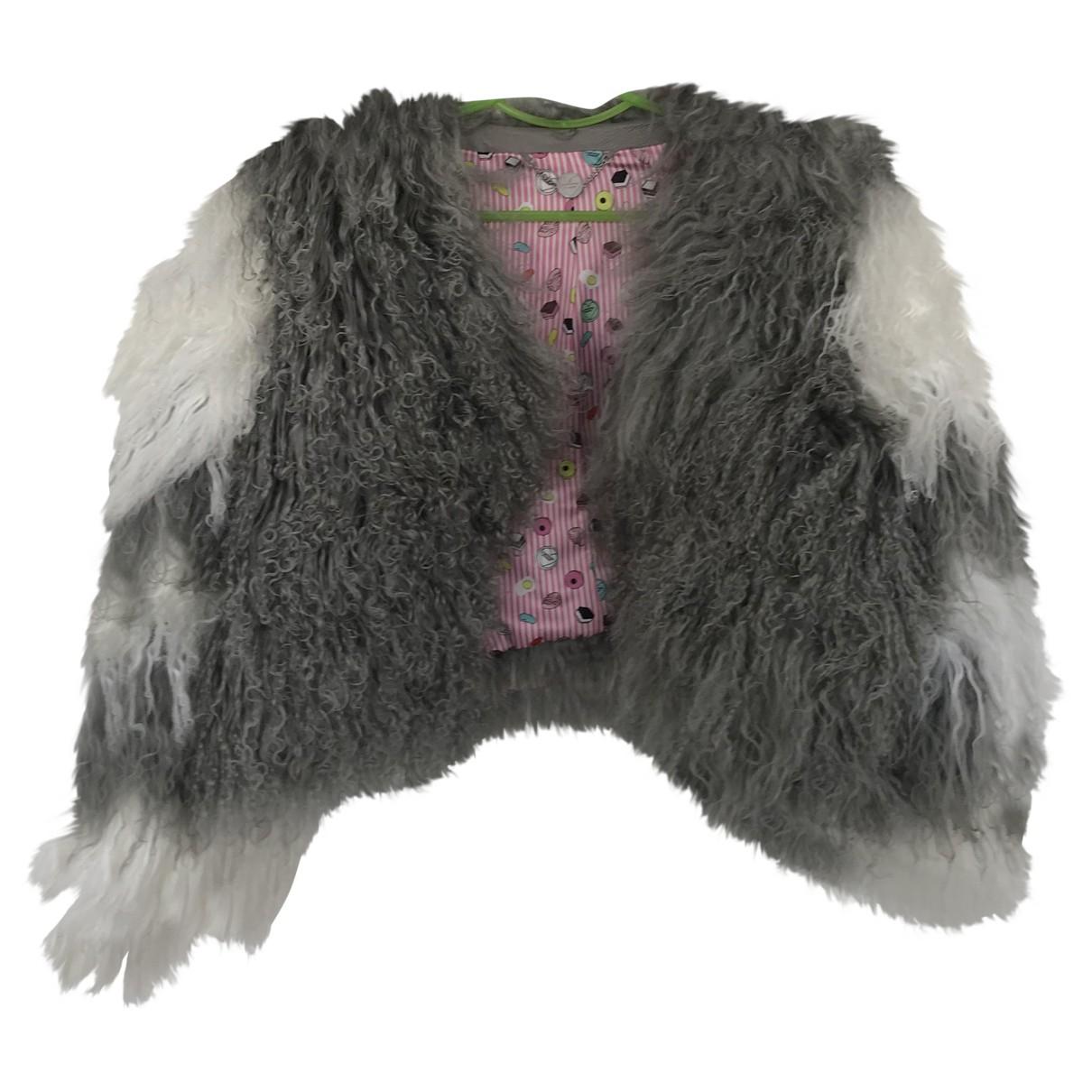 Charlotte Simone - Veste   pour femme en mouton - gris