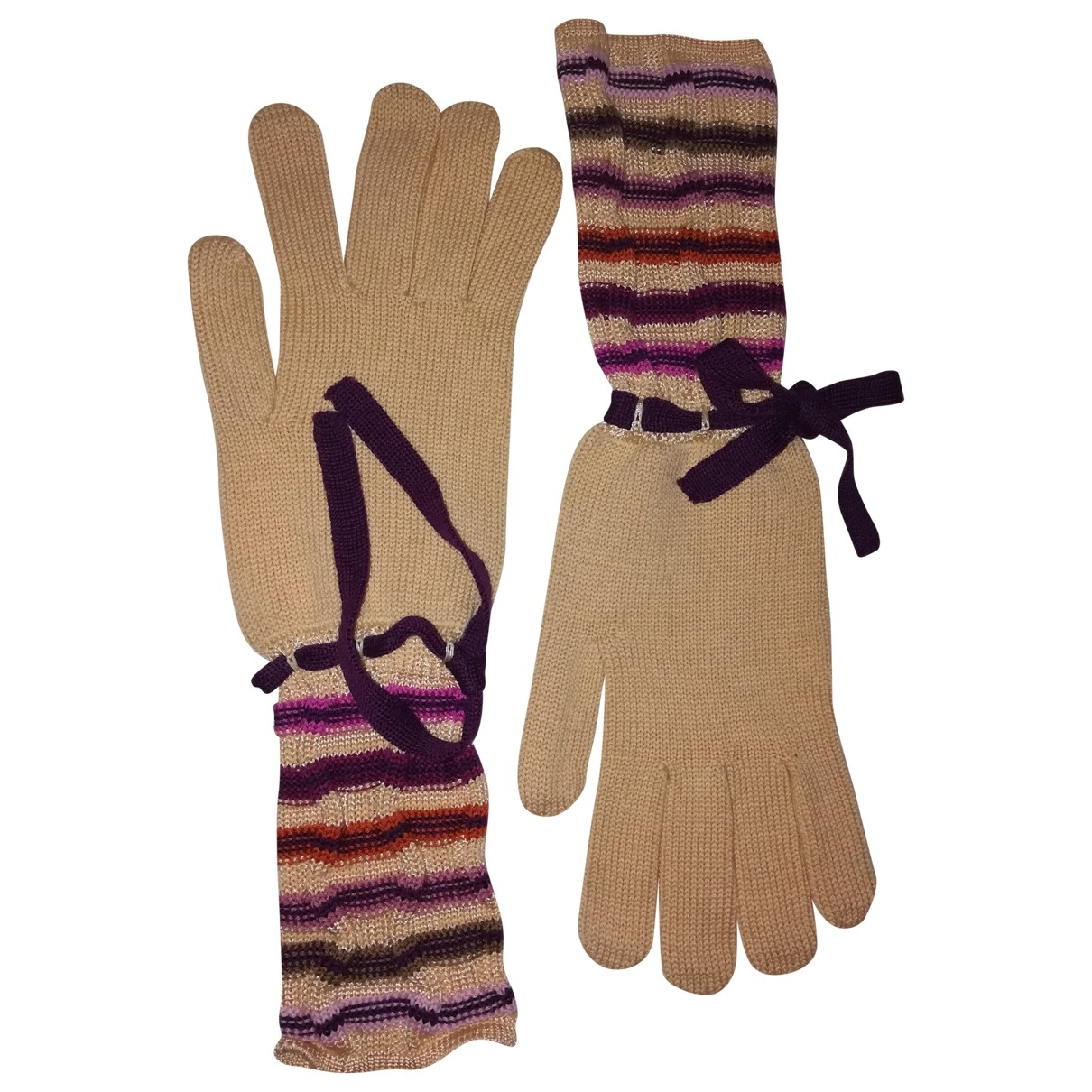 Missoni \N Multicolour Wool Gloves for Women L International