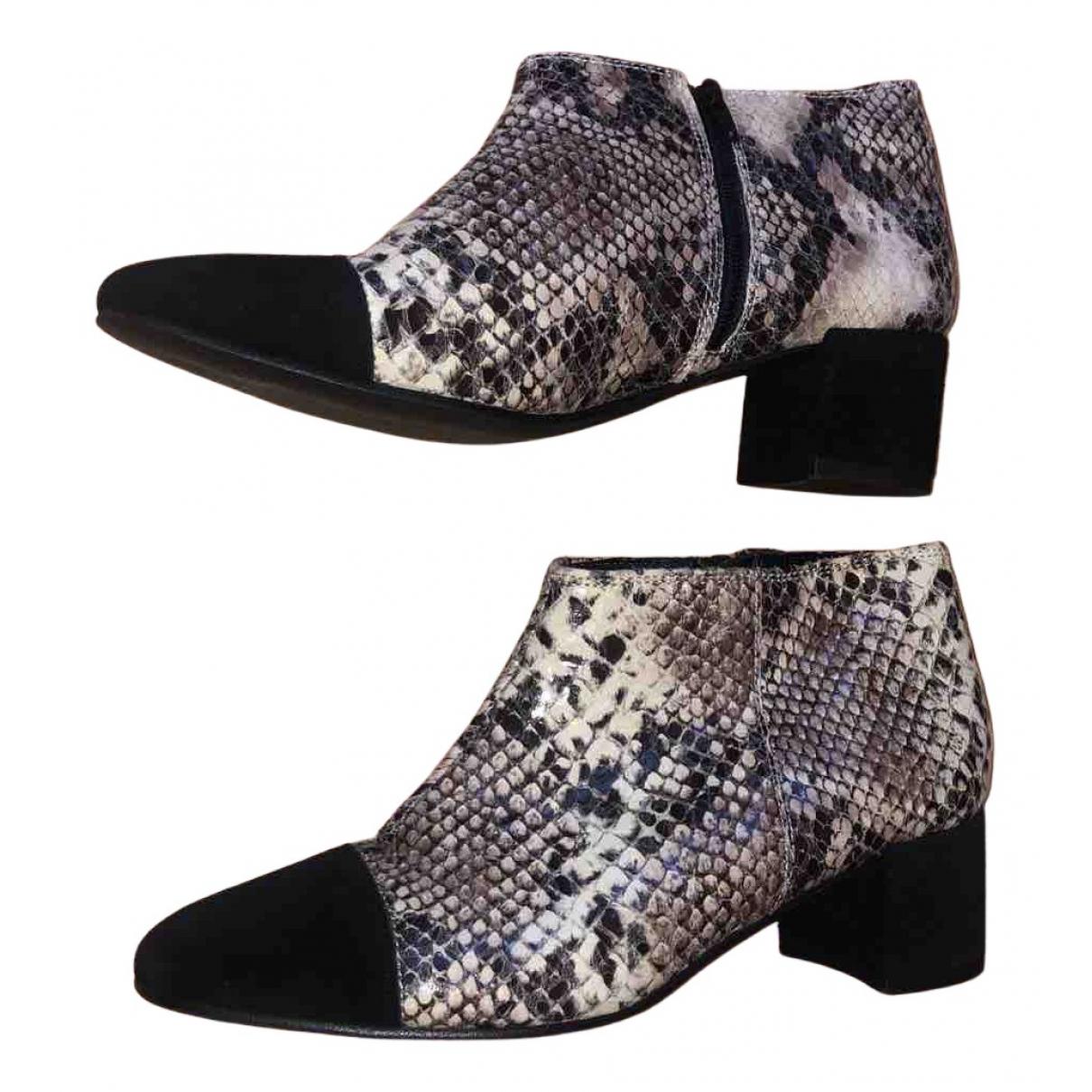 Office London N Beige Leather Boots for Women 4 UK