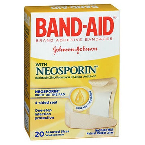Band-Aid Antibiotic Adhesive Bandages Assorted Size 20 each by Band-Aid