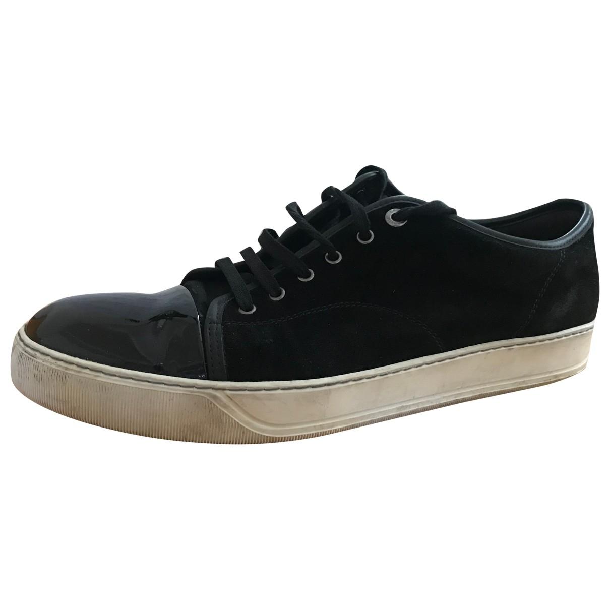 Lanvin \N Sneakers in  Schwarz Leder