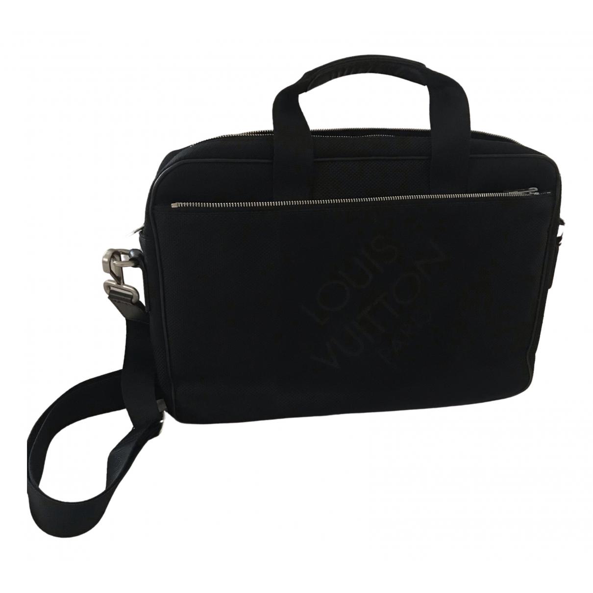 Louis Vuitton Porte Documents Jour Black Cloth bag for Men N