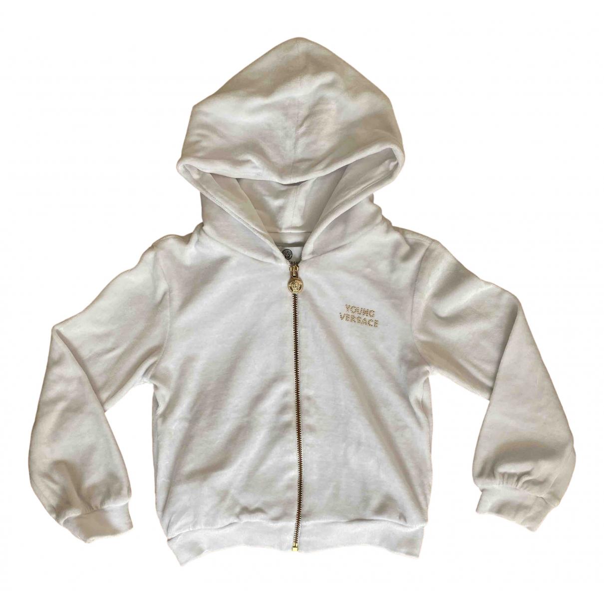 Versace - Pull   pour enfant en coton - blanc
