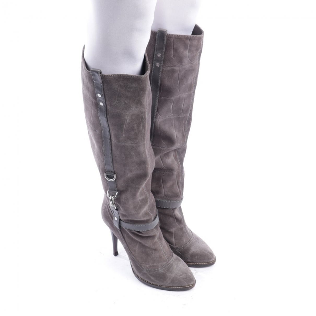 Mulberry \N Grey Suede Boots for Women 39 EU