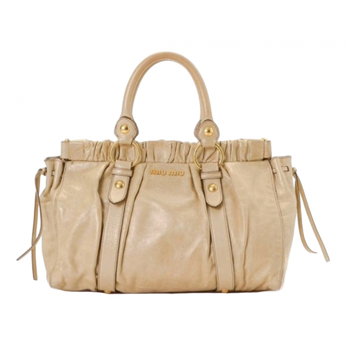 Miu Miu N Beige Leather handbag for Women N