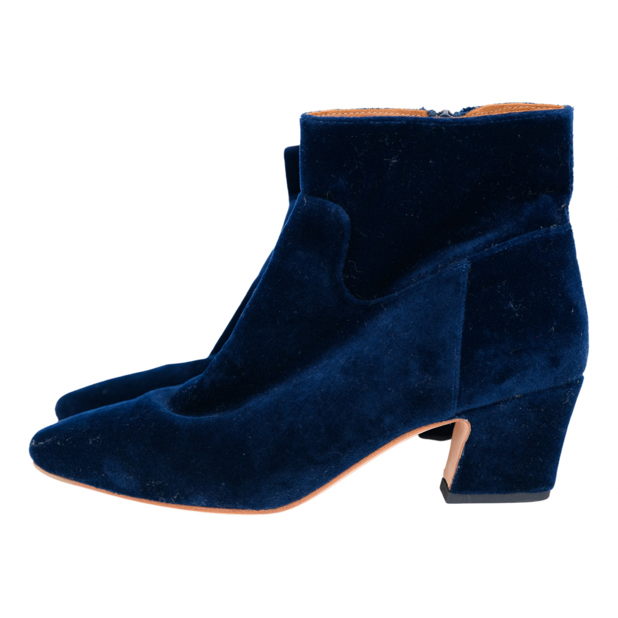 Loeffler Randall N Blue Suede Ankle boots for Women 37 IT
