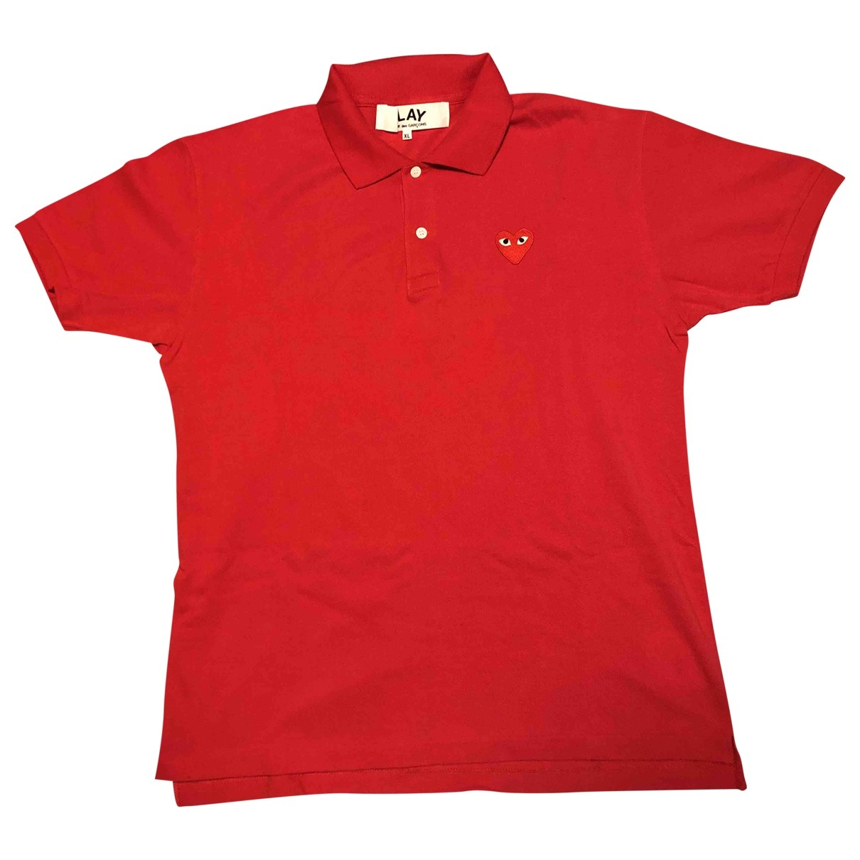 Play Comme Des Garçons \N Red Cotton Polo shirts for Men XL International