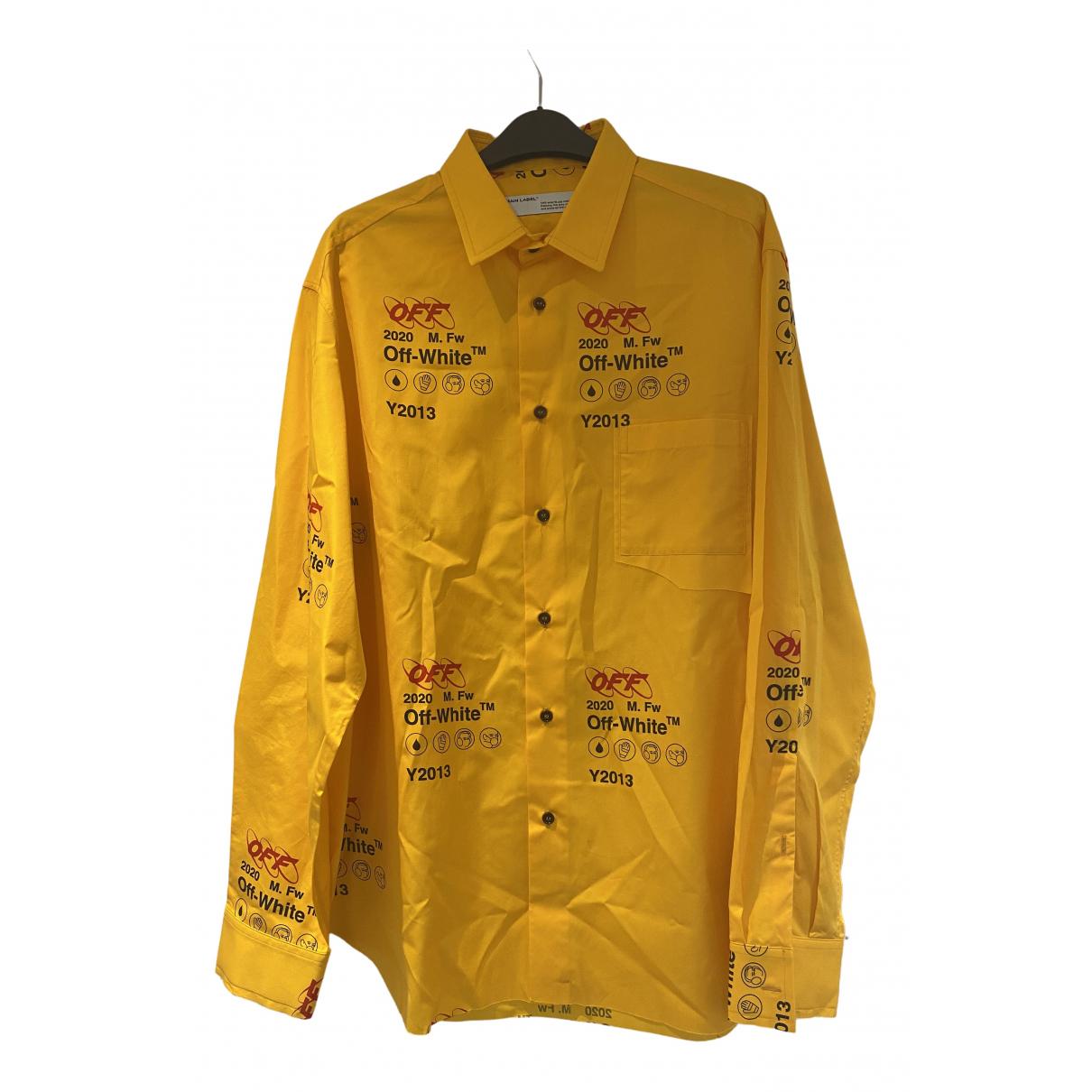 Off-white - Chemises   pour homme en coton - jaune