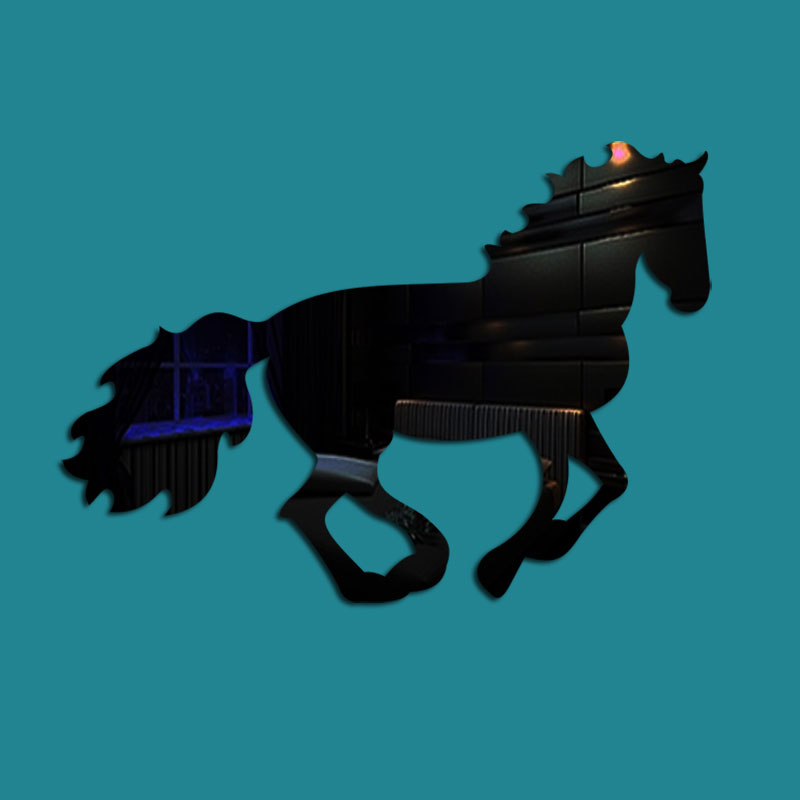 Running Horse Pattern 3 Color 3D Acrylic TV And Sofa Background Wall Stickers