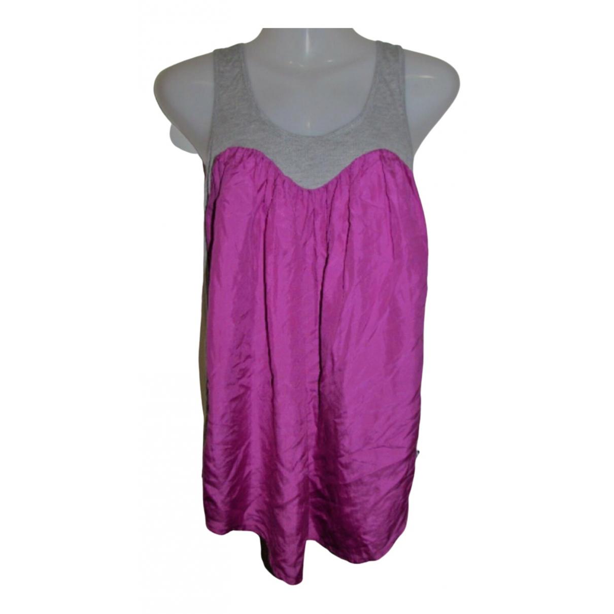 Zimmermann - Top   pour femme en soie - rose