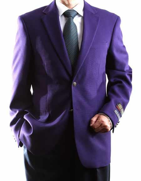 Egg Plant 2 Buttons Single Breasted Big & Tall No Vent Sport Coat