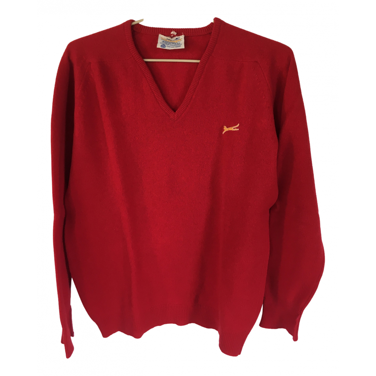 Non Signé / Unsigned \N Red Wool Knitwear & Sweatshirts for Men 36 UK - US