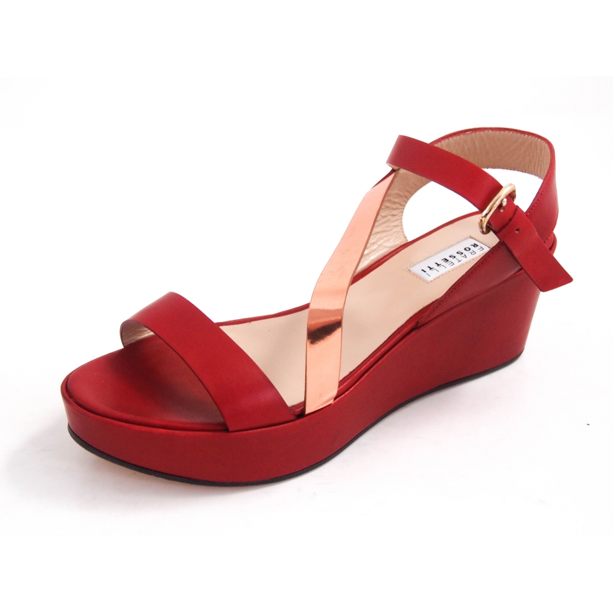 Fratelli Rossetti \N Red Leather Sandals for Women 39 EU