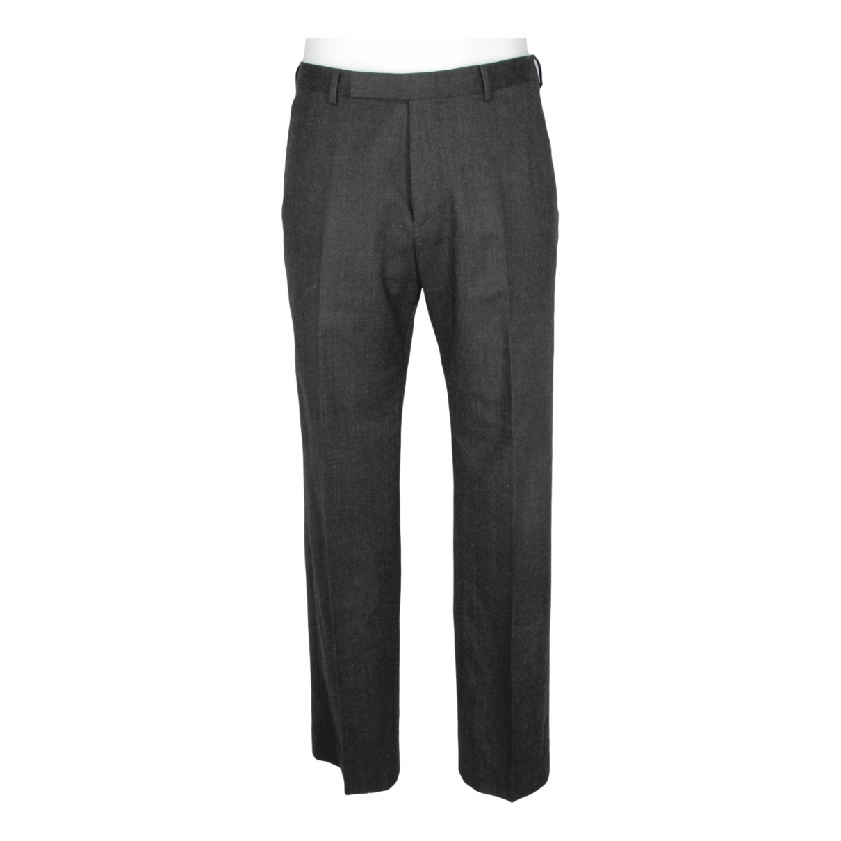 Z Zegna \N Grey Wool Trousers for Men 48 IT