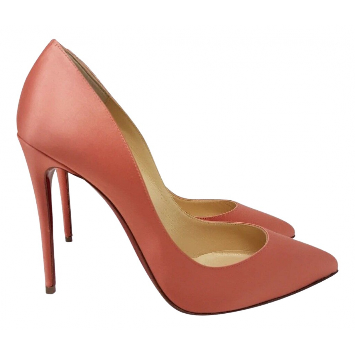 Christian Louboutin - Escarpins Pigalle pour femme en toile - rose