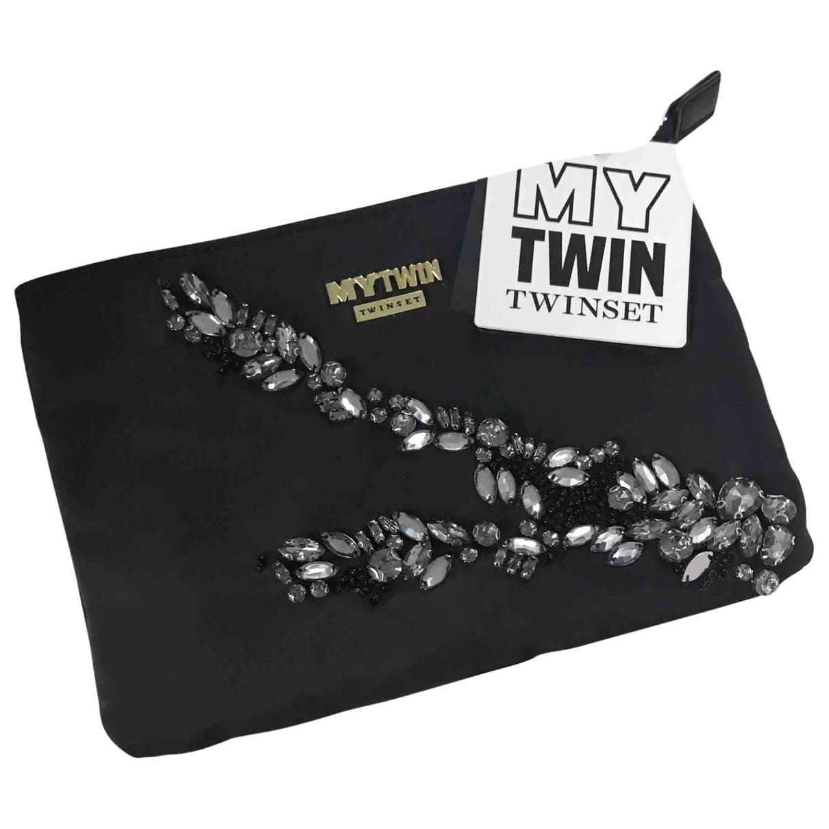 Twin Set - Sac a main   pour femme en toile - noir