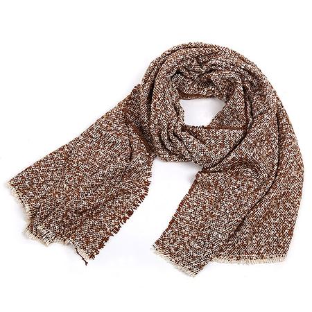 Yoins Khaki Oversized Scarf In Boucle Knit