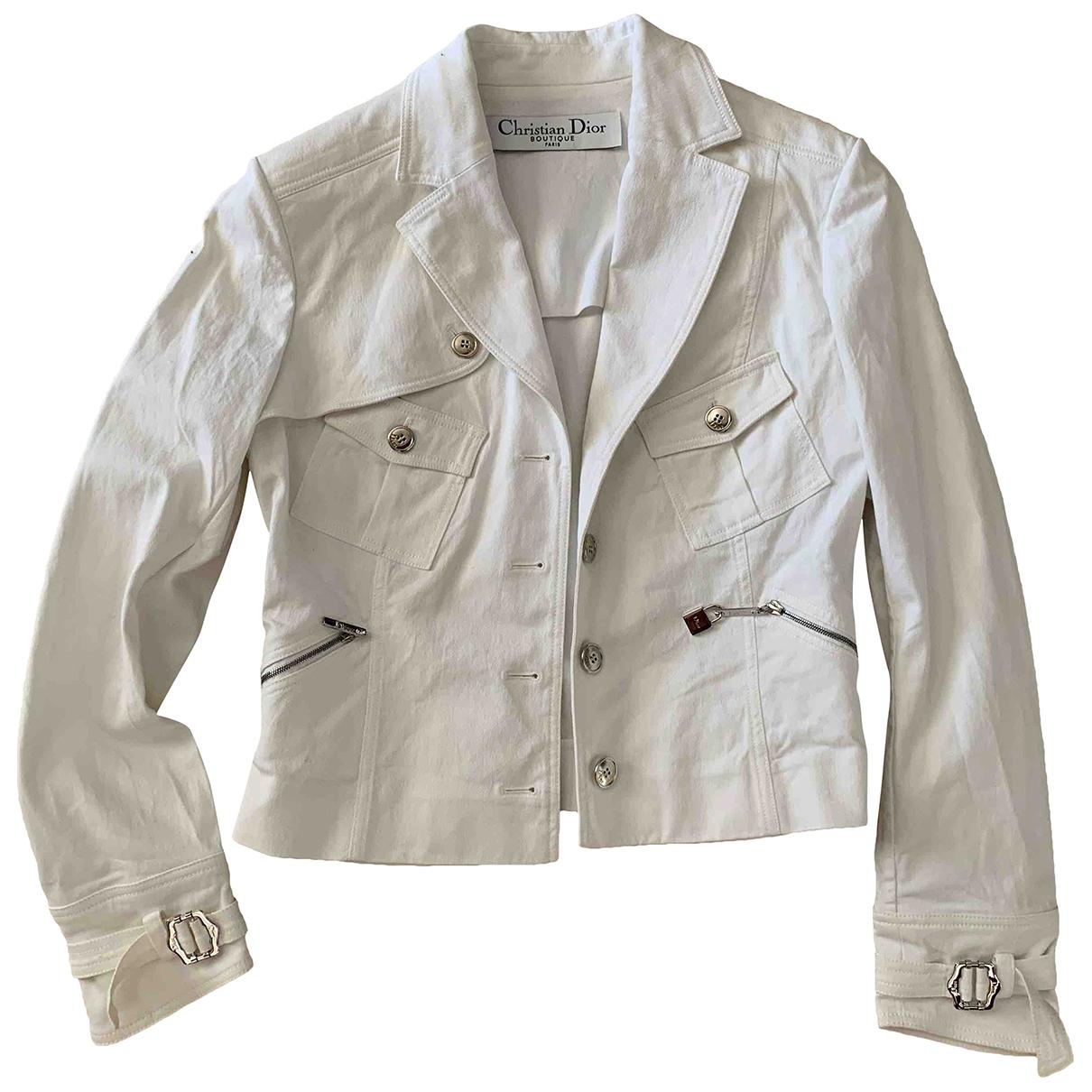Dior \N White Cotton jacket for Women 38 FR