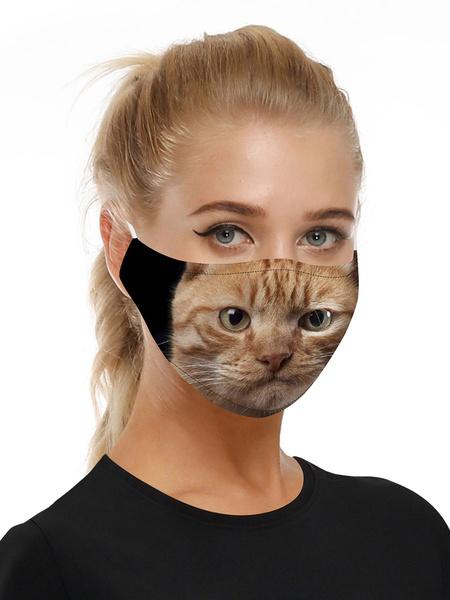 Milanoo Costume Accessories Covering Ginger Cat Print