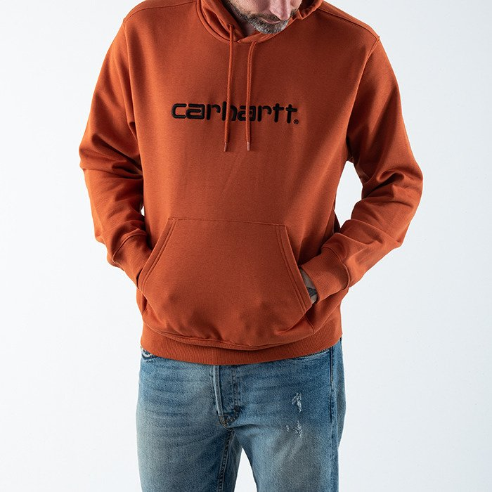 Carhartt WIP Hooded Carhartt Sweatshirt I027093 CINNAMON/BLACK