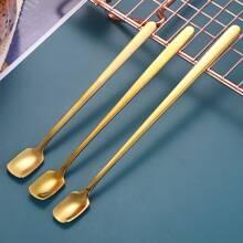 3 piezas cuchara de cafe de acero inoxidable