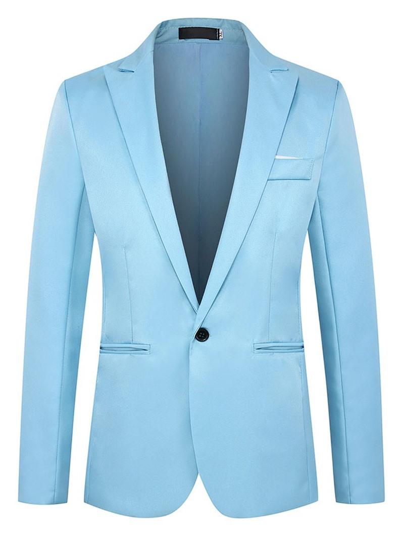 Ericdress Slim Notched Lapel One Button Men's Blazer