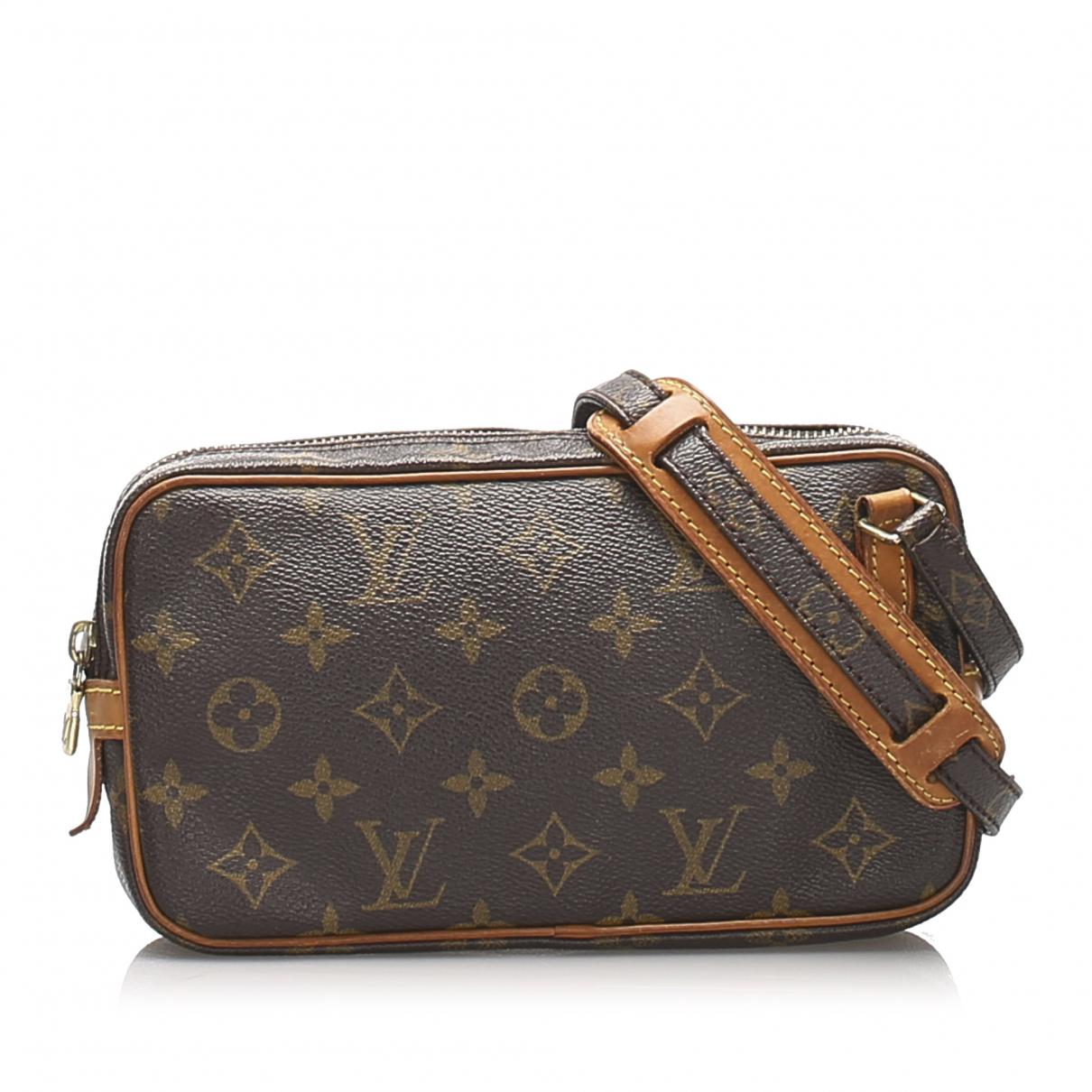 Louis Vuitton - Sac a main Marly pour femme en toile - marron
