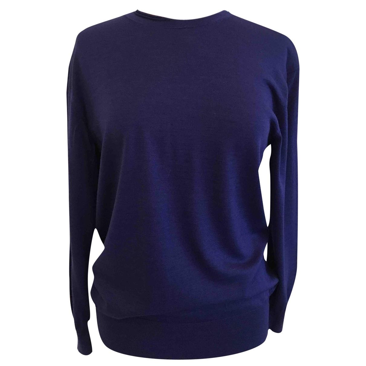 Celine - Pull   pour femme en laine - bleu