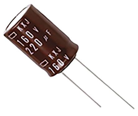 Nippon Chemi-Con 330μF Electrolytic Capacitor 250V dc, Through Hole - EKXJ251ELL331MM40S