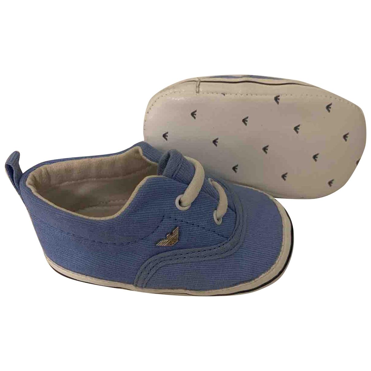 Armani Baby - Chaussons   pour enfant en coton - bleu