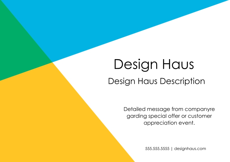Professional Services Business Postcards, Business Printing -Modern Angle