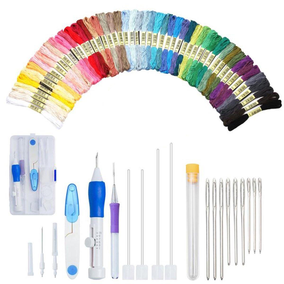 Magic Diy Embroidery Pen Set Knitting Sewing Tool Kit Punch Needle Adjustable