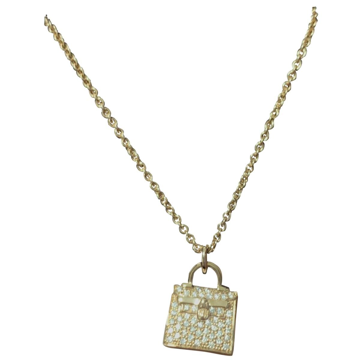 Hermes - Collier Kelly pour femme en or rose - rose