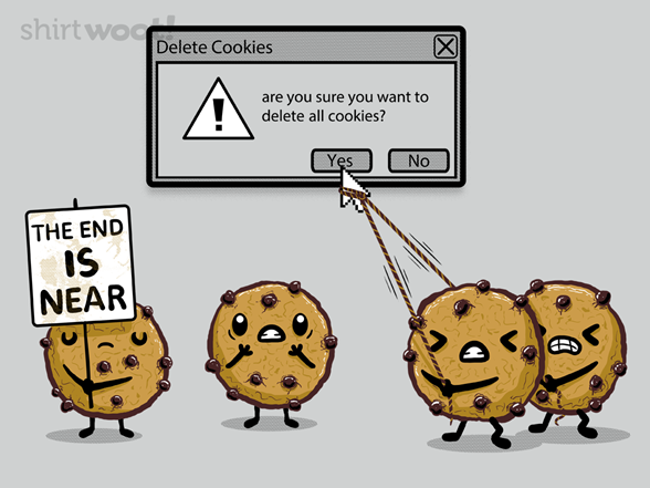 Delete Cookies T Shirt