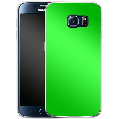 Samsung Galaxy S6 Silikon Handyhuelle - Test Green von caseable Designs