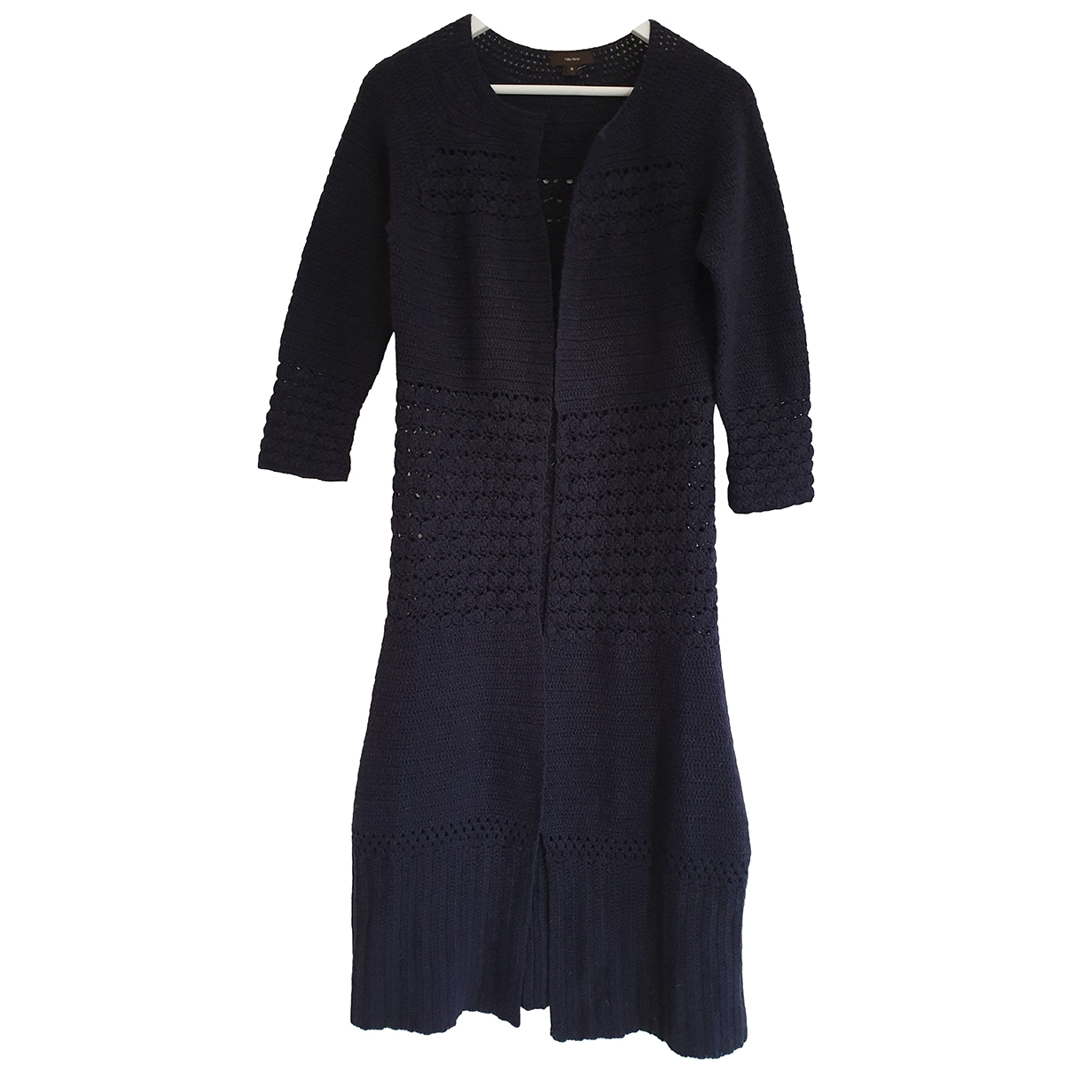Vera Wang - Pull   pour femme en laine - marine