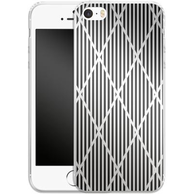 Apple iPhone 5s Silikon Handyhuelle - Black Diamonds von caseable Designs